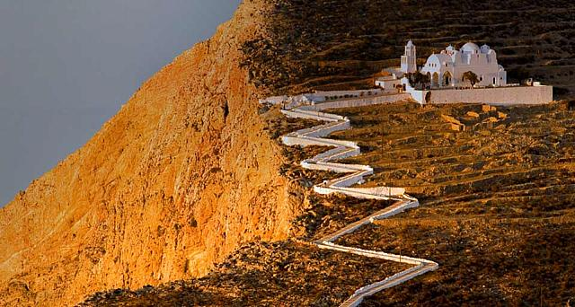 Church of Panagia above the town of Chora on Folegandros Island, Greece