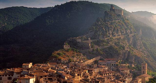 Village of Entrevaux in Provence, France