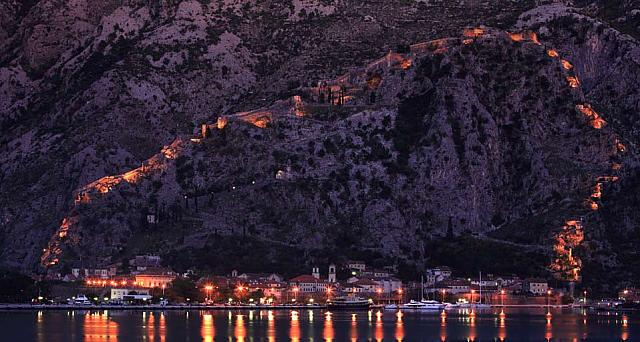 The town of Kotor on the Adriatic Coast of Montenegro