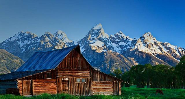 Moulton Barn on Mormon Row, Grand Tetons, Wyoming