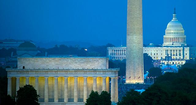 The National Mall, Lincoln Memorial, and Washington Monument, Washington, D.C.