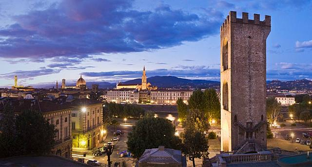 San Niccolo Tower and the Firenze district of Florence, Italy