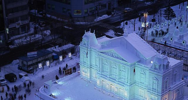 Sculpture at the Sapporo Snow Festival in Sapporo, Japan