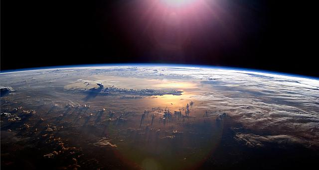 Sunset over the Pacific from the International Space Station -- NASA