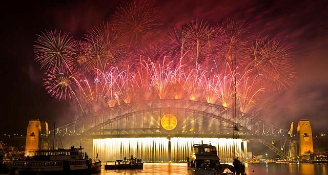 The Sydney Harbour Bridge on New Years Eve