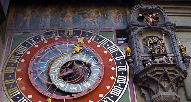 Astronomical clock on the Zytglogge tower in Bern, Switzerland