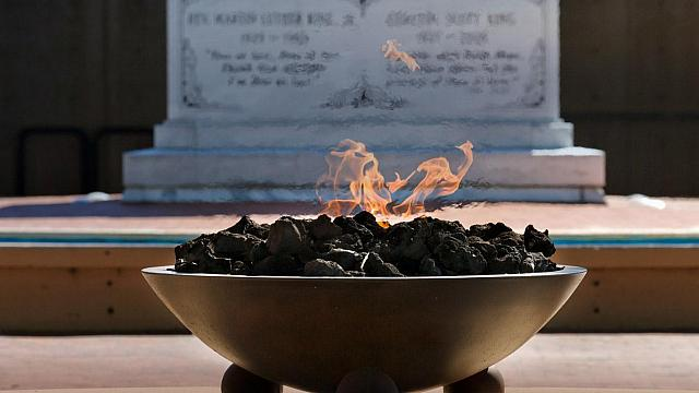 The eternal flame at Martin Luther King Jr. National Historic Site, Atlanta, Georgia  (© Ian Dagnall/Alamy)