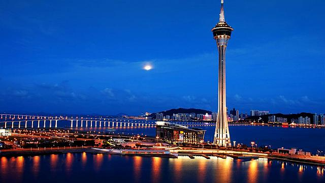 Macau Tower Night Scene, China (© Panther Media/age fotostock)