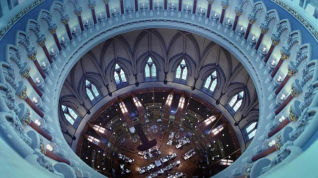 Library of Parliament in Ottawa, Ontario, Canada (© Ron Watts) HD