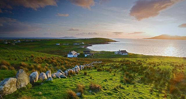 Sunset on Clare Island, Ireland