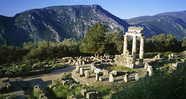 Temple of Athena at Delphi, Grece