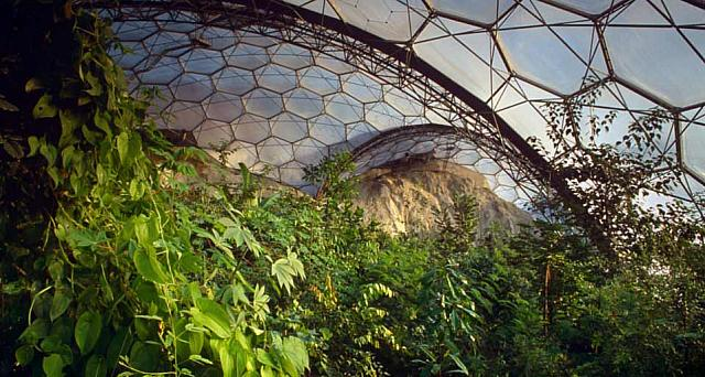 Sub-Tropical Biosphere Dome at the Eden Project, Comwall, England