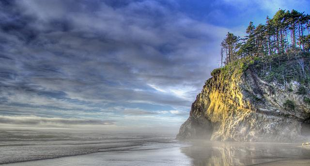 Hug Point on the Oregon coast