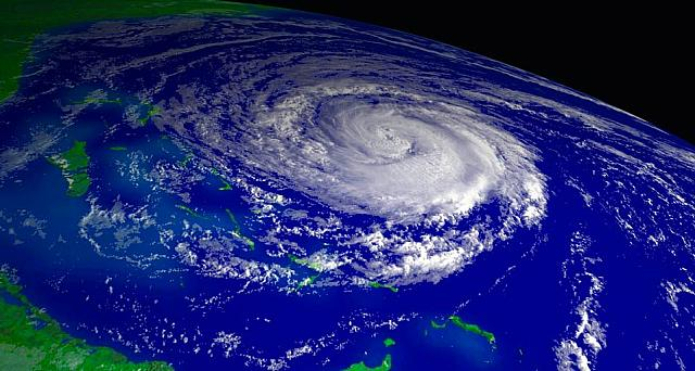 Hurricane Jeanne over the Bahamas in 2004