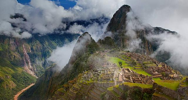 Incan ruins of Machu Picchu outside Cuzco, Peru