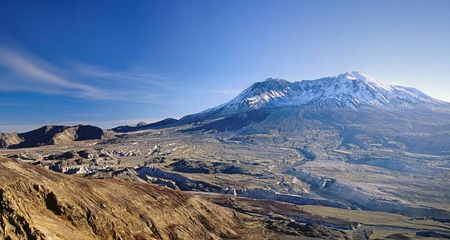 Mount Saint Helens and the devastation from the 1980 eruption, Washington