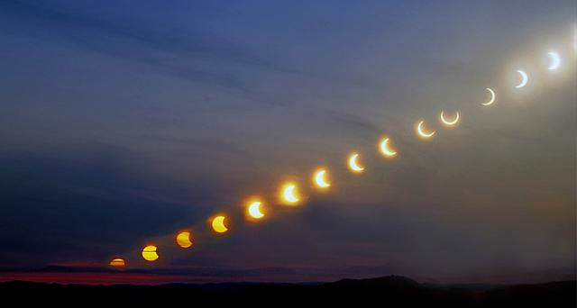 Sequence of the partial solar eclipse May , 2003, Norway