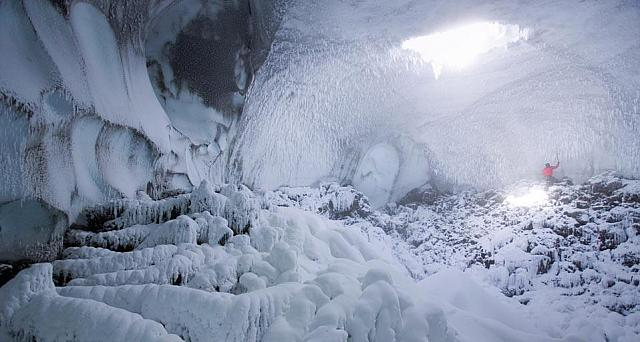 Ice cave on the north side of Mt. Erebus, Ross Island, Antarctica