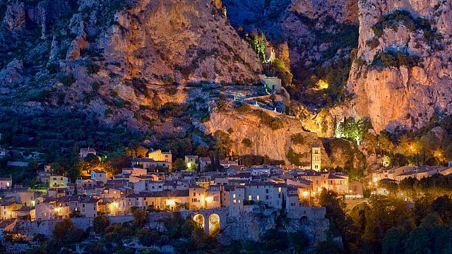Village of Moustiers Sainte-Marie, Provence-Alpes-Cote d'Azur, France (© Sylvain Sonnet/Getty Images)