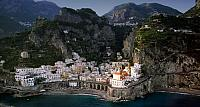 The town of Atrani on the Amalfi Coast, Italy
