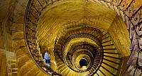 Staircase in Basilica of Notre-Dame de Fourviere in Lyon, France