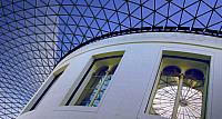 Roof of the British Museum's Great Court in London, England