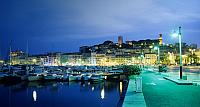 Cannes Marina at sunset, France