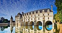 Chateau de Chenonceau on the River Cher in the Loire Valley, France