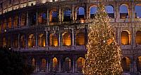 The Colosseum at Christmas time, Rome, Italy