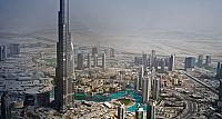 The world's tallest building, Burj Khalifa, in downtown Dubai, United Arab Emirates