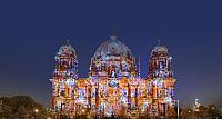 Berlin Cathedral with artful illumination during the festival of lights in Berlin, Germany