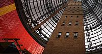 Historic Shot tower within glass dome, Melbourne Shopping Centre, Victoria, Australia
