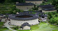 Hakka Tulou round earth buildings, Fujian Province, China