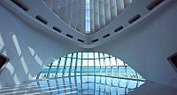 Interior view of the Milwaukee Art Museum in Milwaukee, Wisconsin