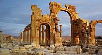 The Triumphal Arch at Palmyra, Syria