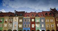 Renaissance merchant houses in Poznan, Poland