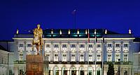 Presidential Palace and the monument of Prince Jozef Poniatowski, Warsaw, Poland