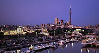 Toronto skyline during the Canadian National Exhibition, Ontario, Canada