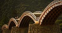 Kintai wooden foot bridge in Iwakuni, Japan