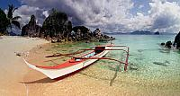 Pangalusian Island beach in El Nilo, Philippines