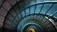 Iron staircase of Currituck Beach Lighthouse, North Carolina (© Peter Ptschelinzew)