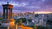Stewart Monument, Calton Hill, Edinburgh, Scotland (© Doug Pearson/Aurora Photos)