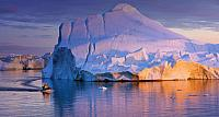 Tour Boat and iceberg in Disko Bay, Greenland