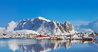Fishing village of Reine, in the Lofoten Islands, Norway