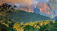 Atlantic rainforest and Organ Mountains in Serra dos Orgaos National Park, Brasil