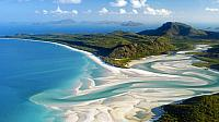Aerial shot of Whitehaven Beach, Whitsunday Island off Queensland, Australia (© imagebroker.net/Superstock)
