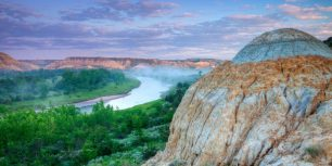 The Little Missouri River at the Little Missouri National Grassland, North Dakota (© Chuck Haney/Danita Delimont)