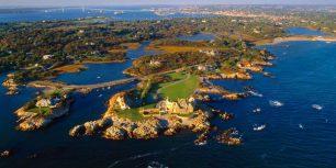 Aerial view near Ocean Drive in Newport, Rhode Island (© Massimo Borchi/4Corners)