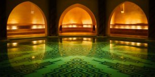 Hammam bath house beneath the Hassan II Mosque, Casablanca, Morocco (© roevin/Flickr/Getty Images)