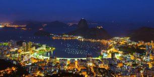 Sugar Loaf Mountain and Guanabara Bay, Rio de Janeiro, Brazil (© Bronek Kaminski/Getty Images)